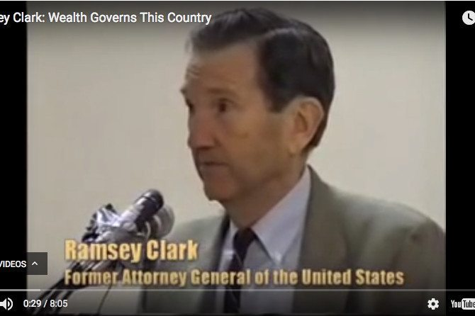 US AG Ramsey Clark: Wealth Governs This Country