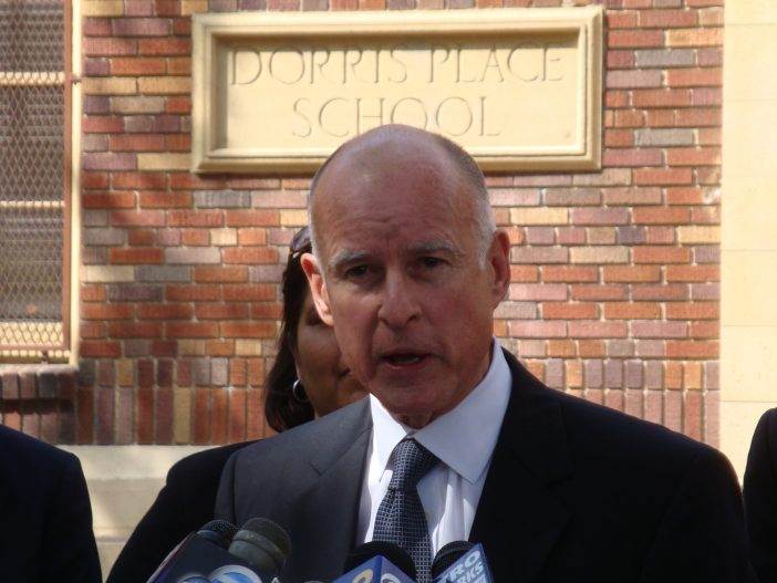 "CA Gov. Jerry Brown Tells Indigenous Activists Protesting Fracking He'll Put Them ""In the Ground"""