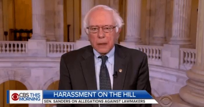 Sanders Says Trump Should Follow Franken's Lead and Resign Amid Sexual Assault Allegations