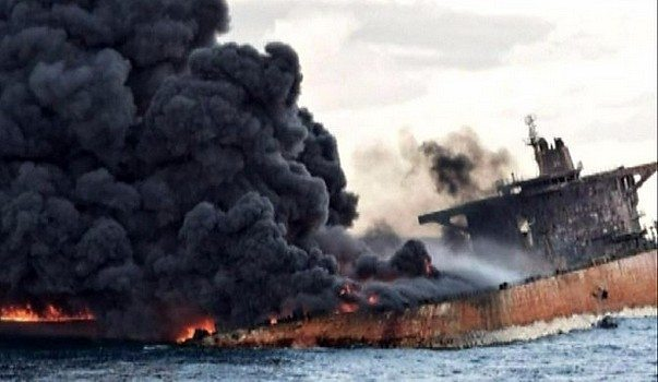 Toxic Spill and 32 Deaths, Iranian Tanker Sinks After Collision With Cargo Vessel