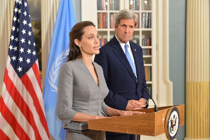 John Kerry Interviews Actress And Humanitarian Angelina Jolie In Latest ELLE