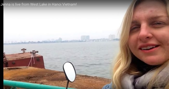 Jenna is live from West Lake in Hanoi Vietnam!