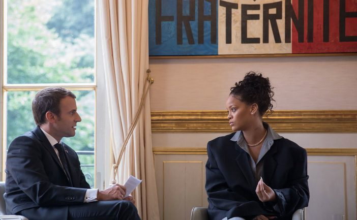 Rihanna Teams With French President To Bring Education To Disadvantaged Countries