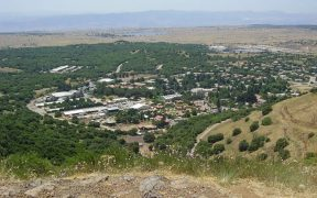 Kibbutz Merom Golan, Viewed from Mt. Bental, Golan Heights