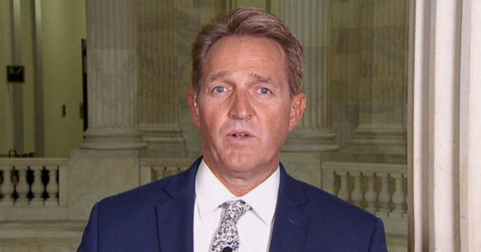 Sen. Jeff Flake Hints At Challenging Trump In 2020 Republican Primary