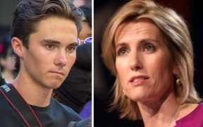 David Hogg y Laura Ingraham