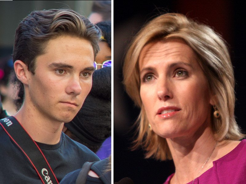 David Hogg & Laura Ingraham, Please Both of You Shut Up, Signed – A Concerned American