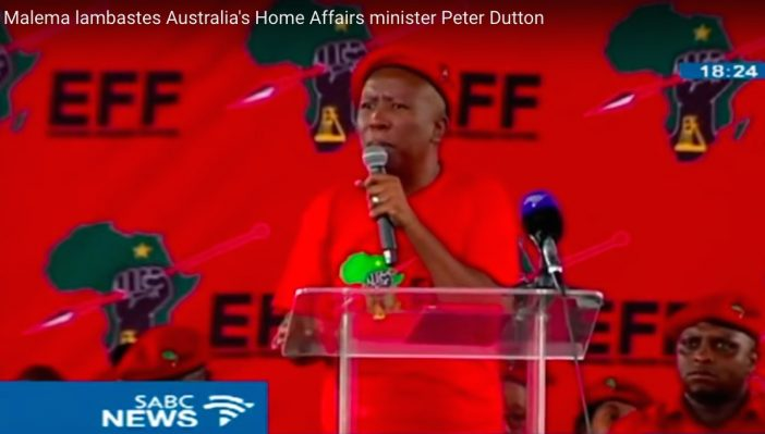South African Leader Julius Malema Fires Back At Australia Over Racist Comment