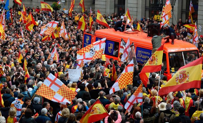"""A Mock Protest For Fictional """"Tabarnia"""" Drew Tens Of Thousands In Spain"""