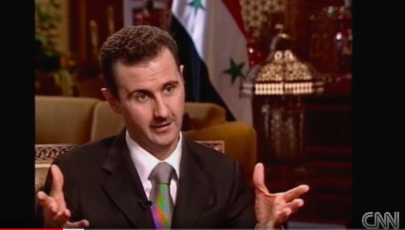 "In 2005 Interview CNN Told Assad the U.S. ""Rhetoric of Regime Change Was Coming"", it's 2018 & War Hawks Are Salivating"