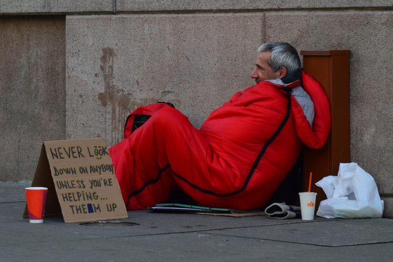 Underneath the Glamour of the Royal Wedding Simmered UK's Homeless Issue