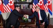 800px Trump and Kim shaking hands in the summit room