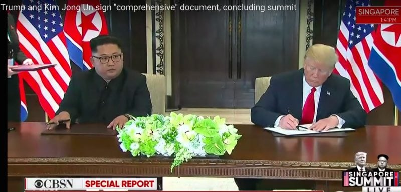 Trump and Jong-Un Sign Historic Agreement But Short on Details