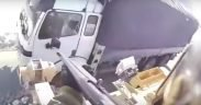 army soldier firing into Afghan truck