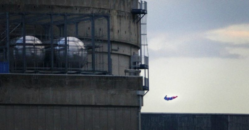 Greenpeace activists crash Superman-shaped drone into French nuclear plant