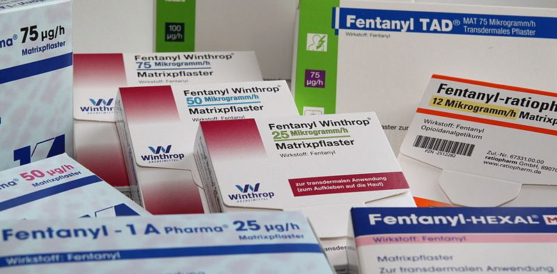 Photo of various fentanyl packets