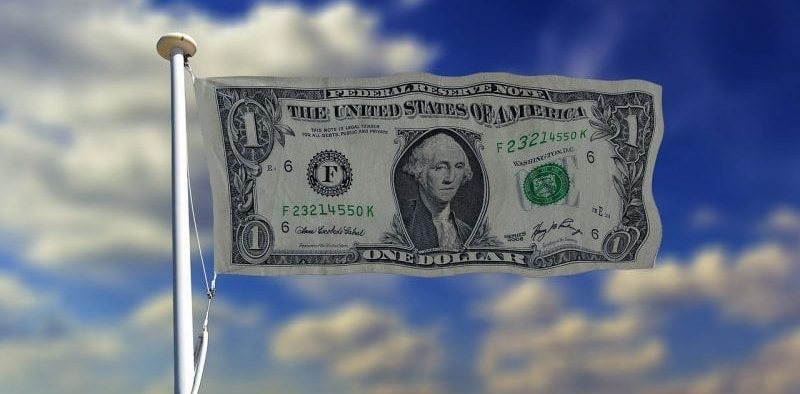 image of a dollar bill as a country flag