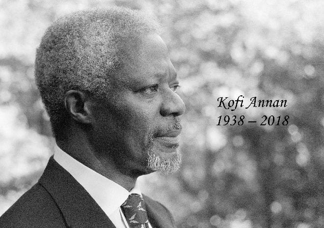 World Mourns Death of Peace Icon, Former UN Secretary General Kofi Annan