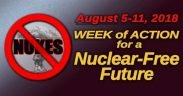 Ad for the Week of Action for a Nuclear-Free Future, August 8-11, 1028