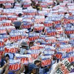 70,000 Demonstrators Protest the Relocation of US Marine Base on Okinawa Island