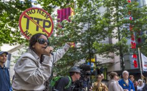 Image of TPP protest rally