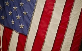 Close up image of the American Flag