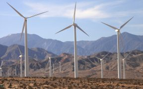 photo of windmills near Palm Springs, California