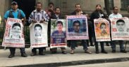Family members of the 43 disappeared students demand truth and justice for their family members. Photo Credit: Argelia Guerrero
