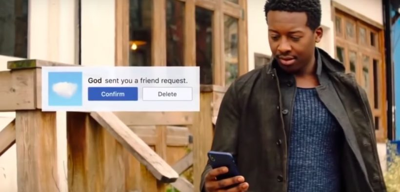 Miles the protagonist in God Friend Me, receives a friend request.
