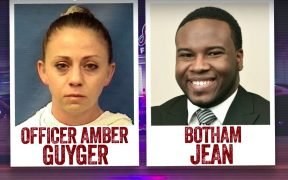 Photo of Dallas police officer Amber Guyger and victim Botham Jean