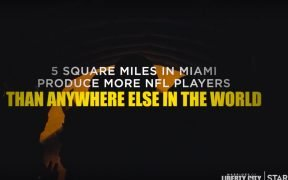 Screenshot of trailer for Liberty City documentary