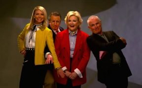Photo of the Murphy Brown reboot cast which is the same as the original.