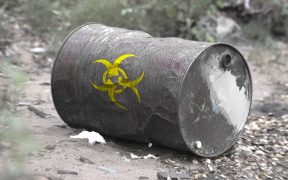photo of a toxic waste barrel