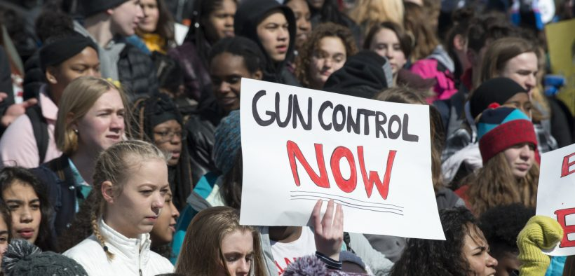 March For Our Lives student protest for gun control in St. Paul, Minnesota March 7, 2018.