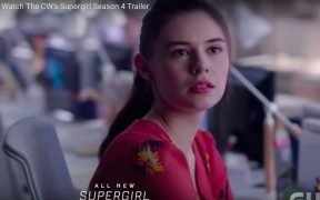 Screenshot of Nicole Maines in Supergirl, Maines is the first transgender superhero on television.