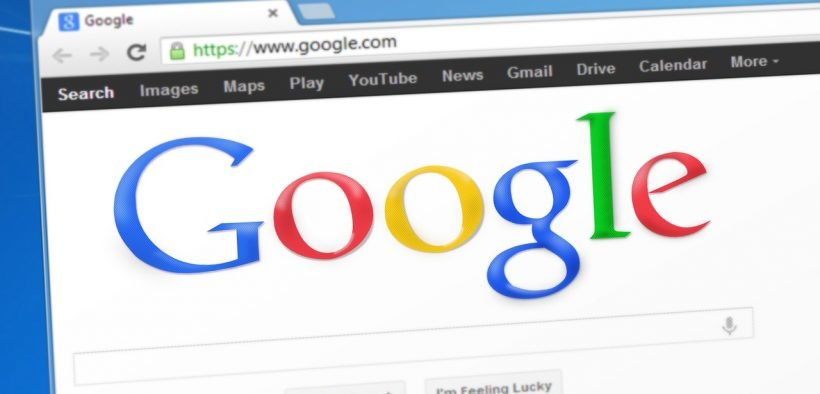 photo of Google search engine.