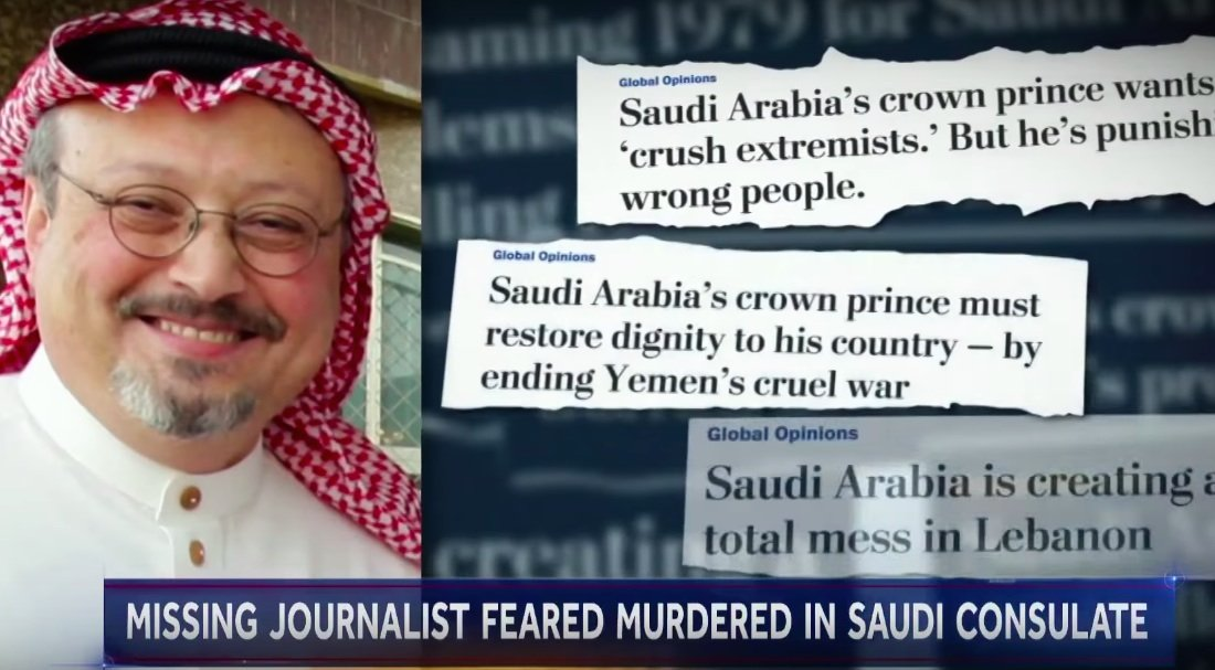2bb1c7d49a Turkey believes missing journalist Jamal Khashoggi was murdered at the  Saudi consulate in Turkey. (Image via YouTube)