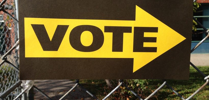 photo of a vote sign.