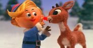 Hermey the elf and Rudolph, two characters from Rudolph the Red-Nosed Reindeer