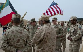 US military in Kuwait in 2018