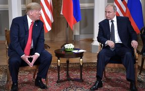 US President Donald Trump and Russian President Vladamir Putin meet in July of 2018.