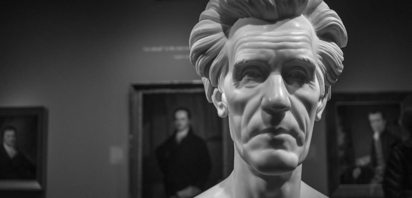 A bust of the 7th President of the United States at the National Portrait Gallery.