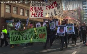Thousands of people march across major Australian cities calling for an end to the country's offshore detention of asylum-seekers.