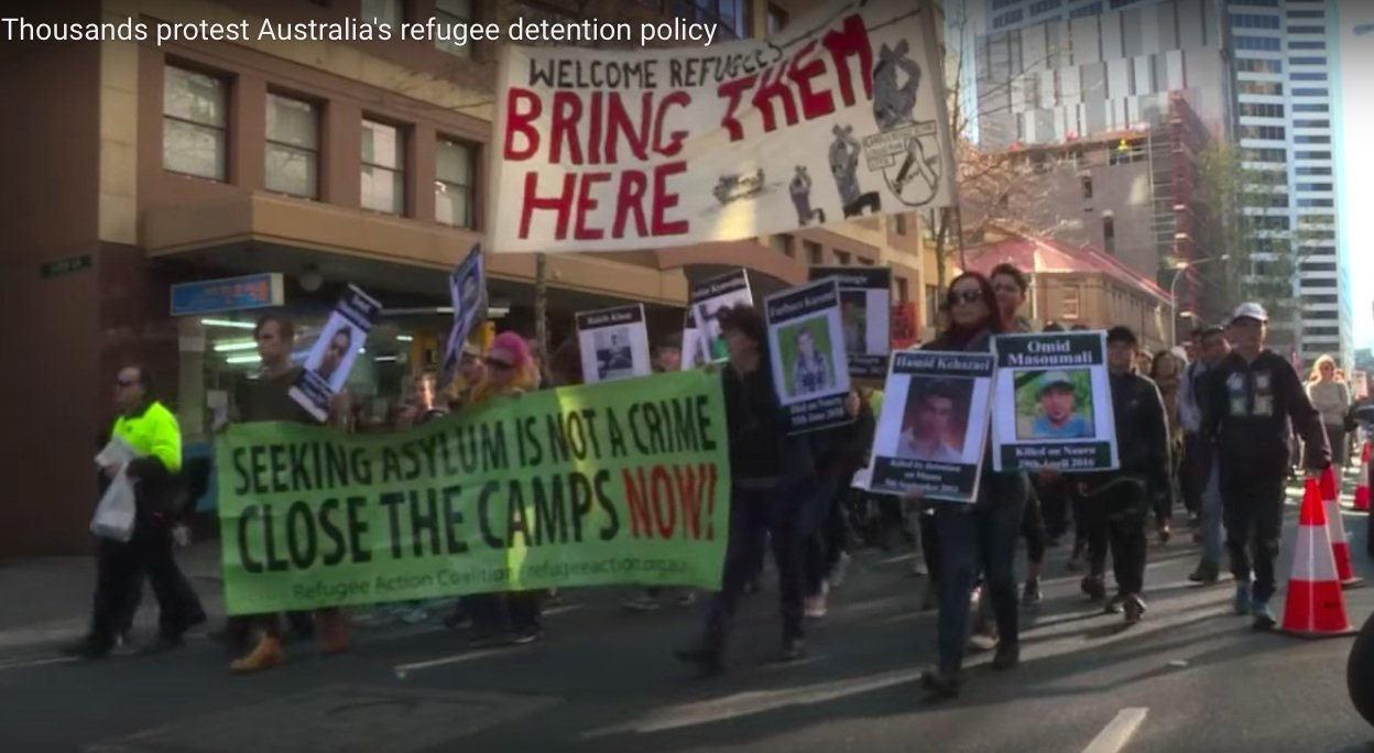 Thousands Of City Children Not Getting >> Suicidal Children Refugees Detained For Years Australians Protest