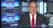 """Screenshot of Boris Epshteyn, Chief Political Analyst for Sinclair Group, giving his """"must-run"""" segment on tear-gassing at the US border."""