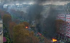 Protest in France over a tax hike turned violent over the weekend.