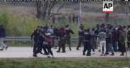 migrants crash with Bosnian police while crossing into Croatia