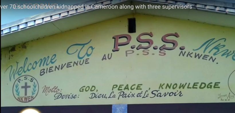 School building where 79 children were kidnapped in Cameroon.