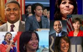 collage of the men and women who broke barriers on election night