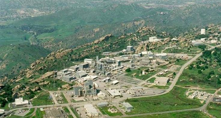 Aerial photograph of Area IV (4) of the Santa Susana Field Laboratory, in the Simi Hills, Ventura County, Southern California in 2007.